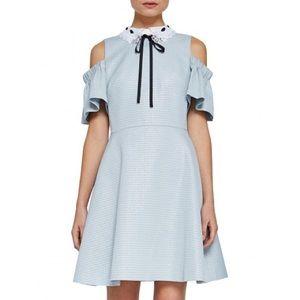 Ted baker araye cold shoulder blue dress
